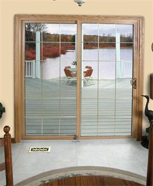 7112 Lite Colonial Beveled Glass Patio Door